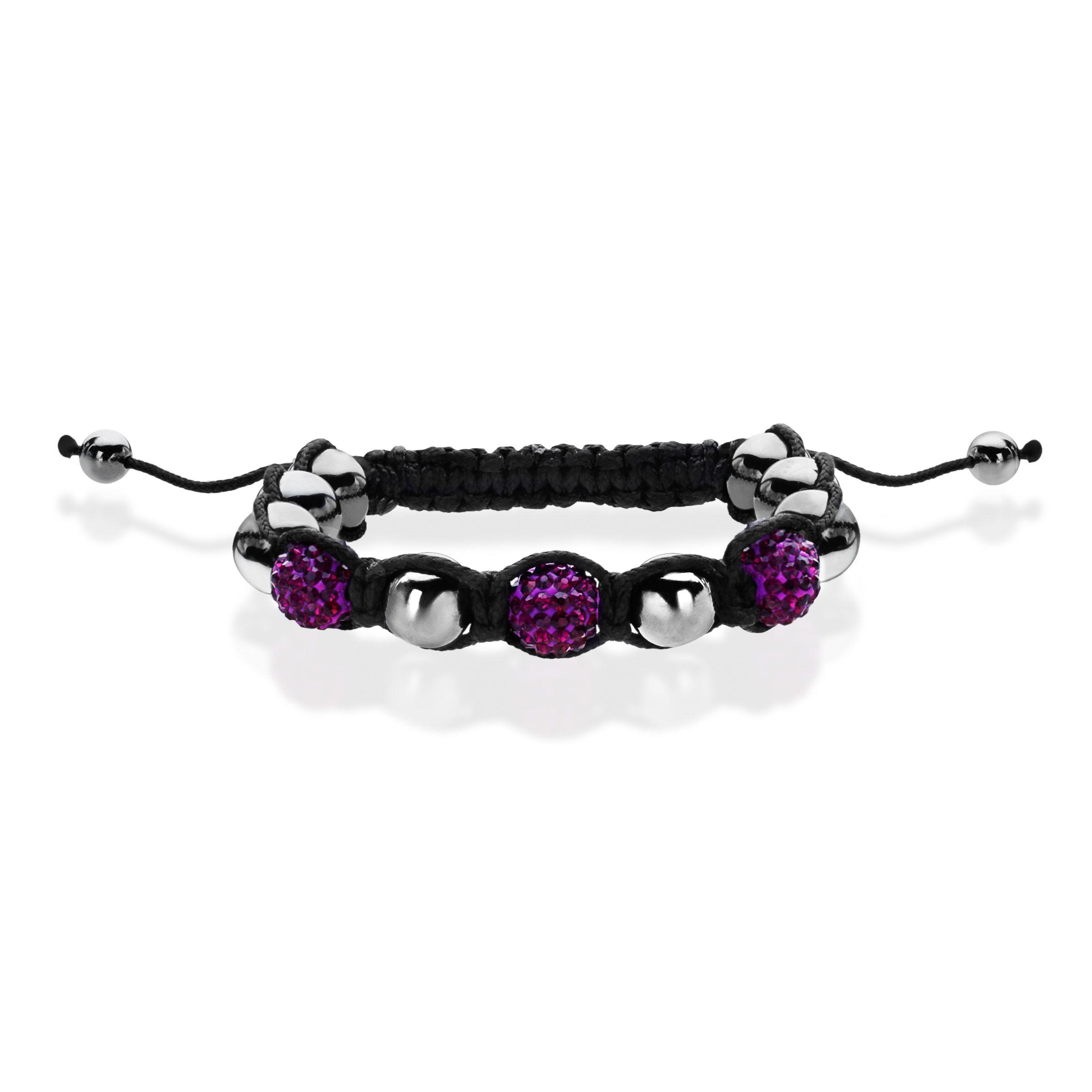 Aya Azrielant Shamballa Bead Bracelet with Purple Crystal, Hematite & Starfish Charm from Jewelry.com