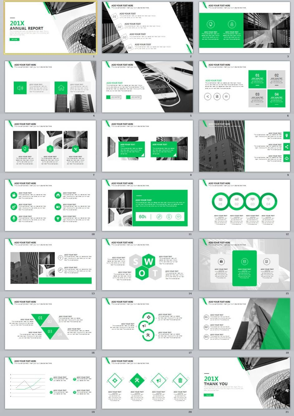 21+ Best blue Creative Business PowerPoint template