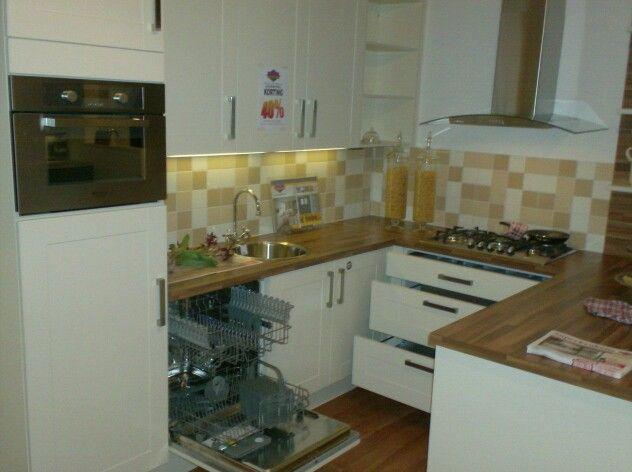 Kleine keuken u vorm huis keuken in