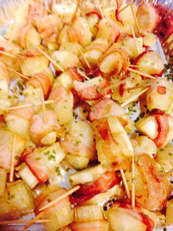 Yucas envueltas en bacon  By: Michelle's Catering PR 787-299-1380