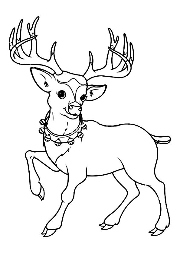 Print Coloring Image Momjunction In 2020 Reindeer Drawing Face Line Drawing Pattern Coloring Pages