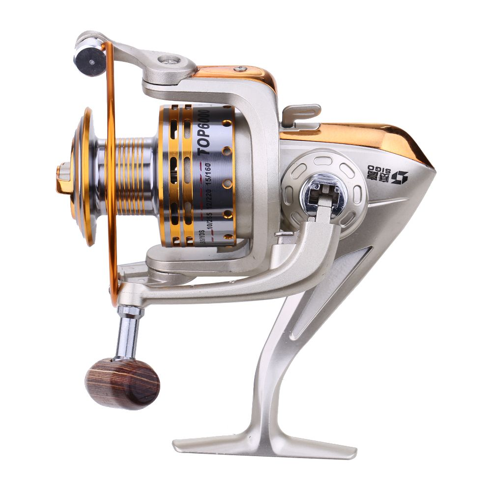 Portable Foldable Metal Gear Ratio 5.1:1 800/4000/6000 Spinning ...