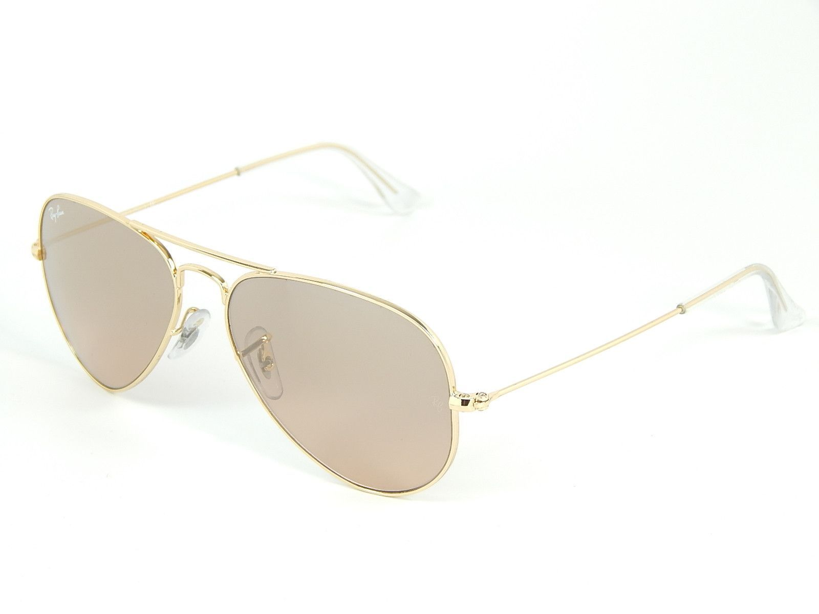 Ray Ban Aviator RB3025 001 3E Gold Silver Pink Mirror 58mm Sunglasses 96a3df695130