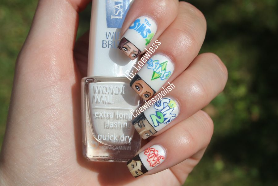the Sims nail art. How is this possible?