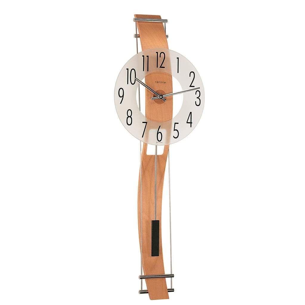 Hermle Kennington Quartz Contemporary Wall Clock 70644382200 Beech