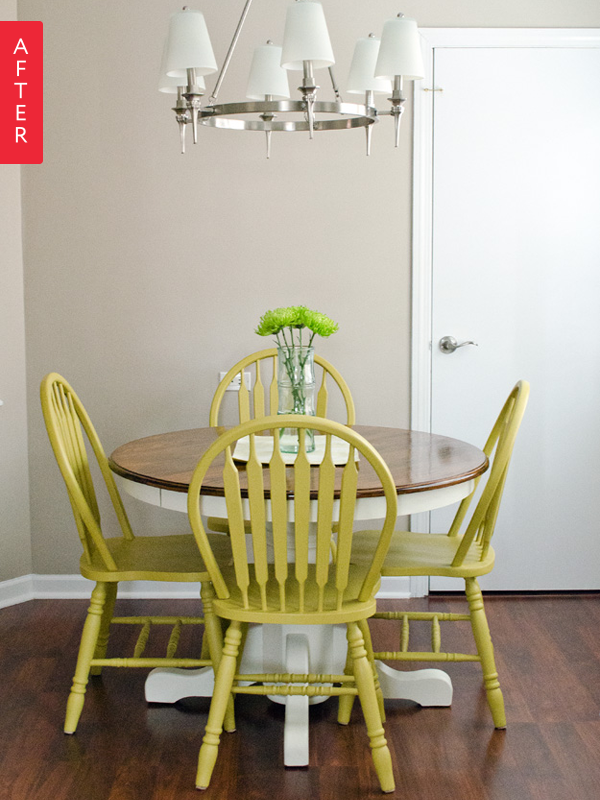 Before & After A Plain Dining Set Pops home inspo