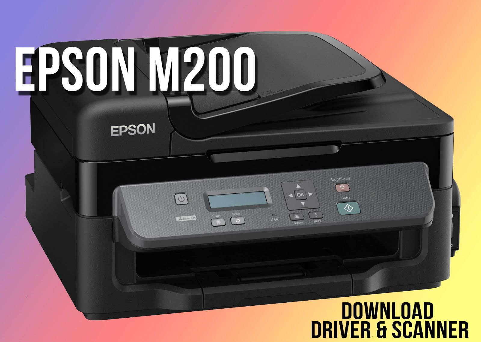 Download Epson M200 Scanner Software | Technology in 2019 | Printer