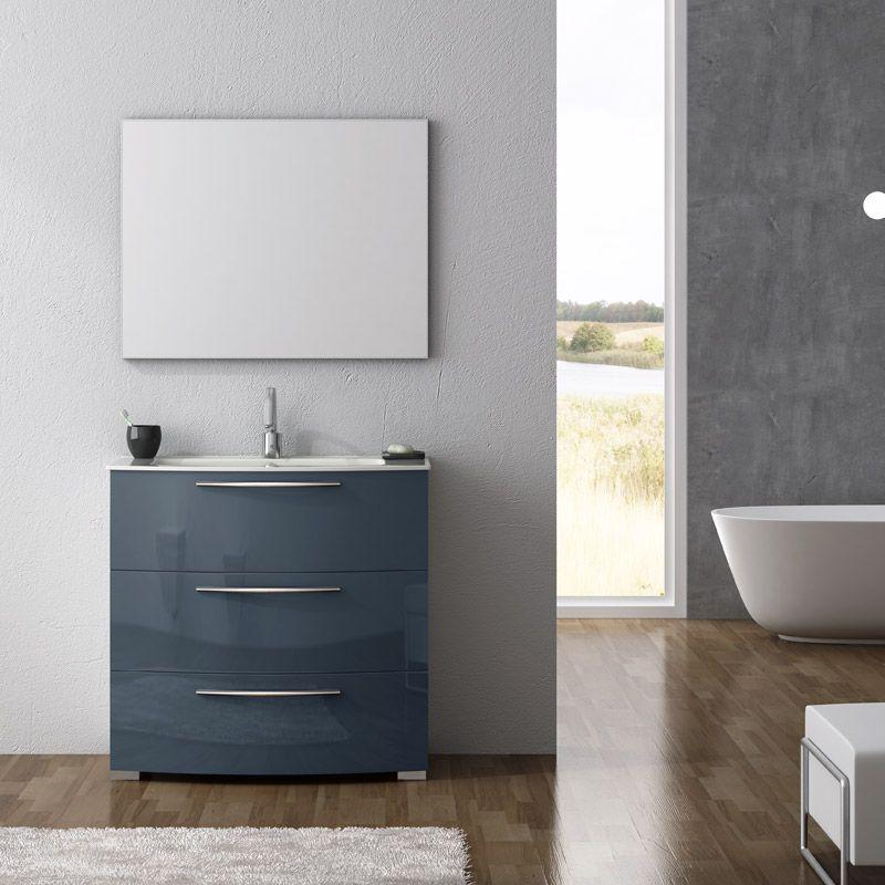 Mueble de ba o calpe en el nuevo acabado grafito brillo - Todo en muebles ...