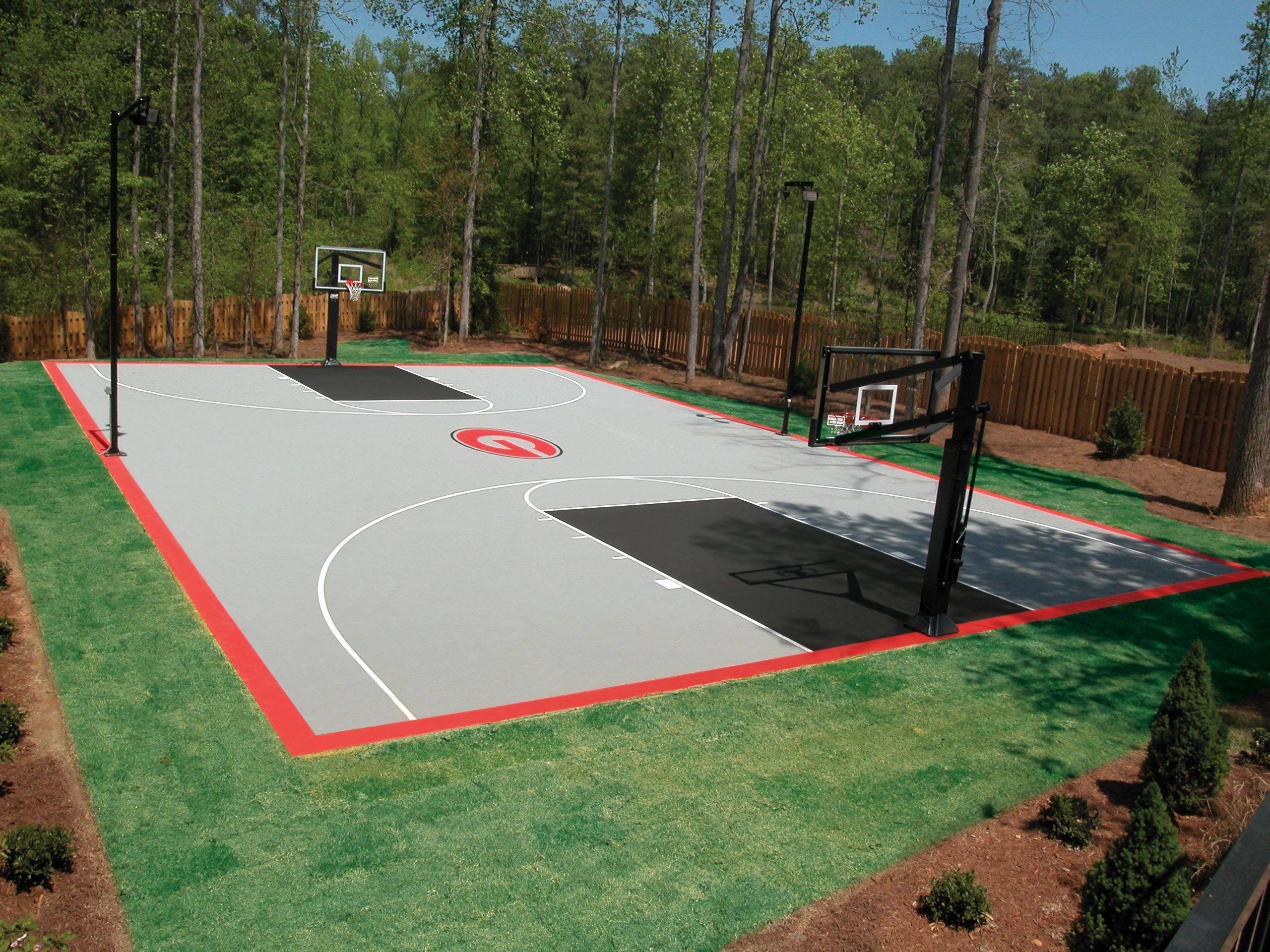 Full backyard basketball court. | Basketball court ...