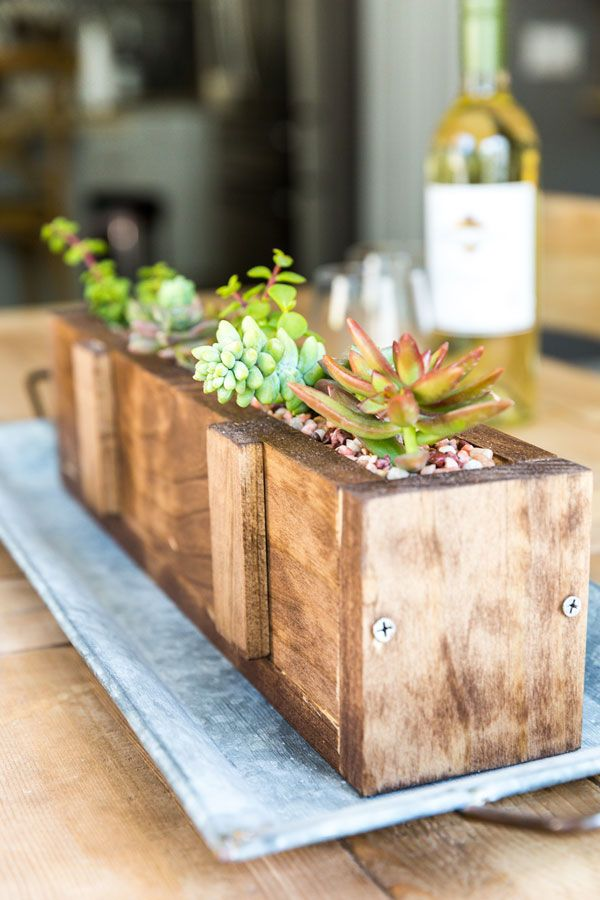 diy wood succulent planter succulent planter diy diy on easy diy woodworking projects to decor your home kinds of wooden planters id=55839