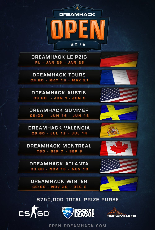 DreamHack Open 2018 - CS:GO schedule #games #globaloffensive