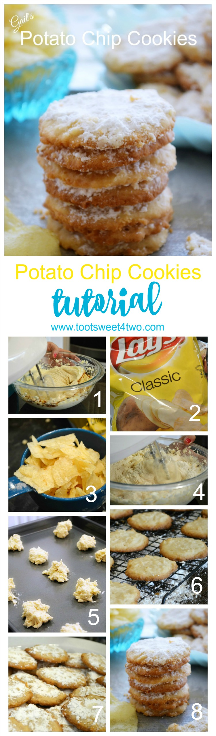 Gail's Potato Chip Cookies #potatochipcookies Gail's Classic Potato Chip Cookies - Toot Sweet 4 Two #potatochipcookies