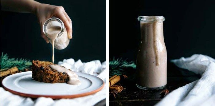 Quick and Healthy Christmas Pudding + Almond Milk Crème Anglaise+