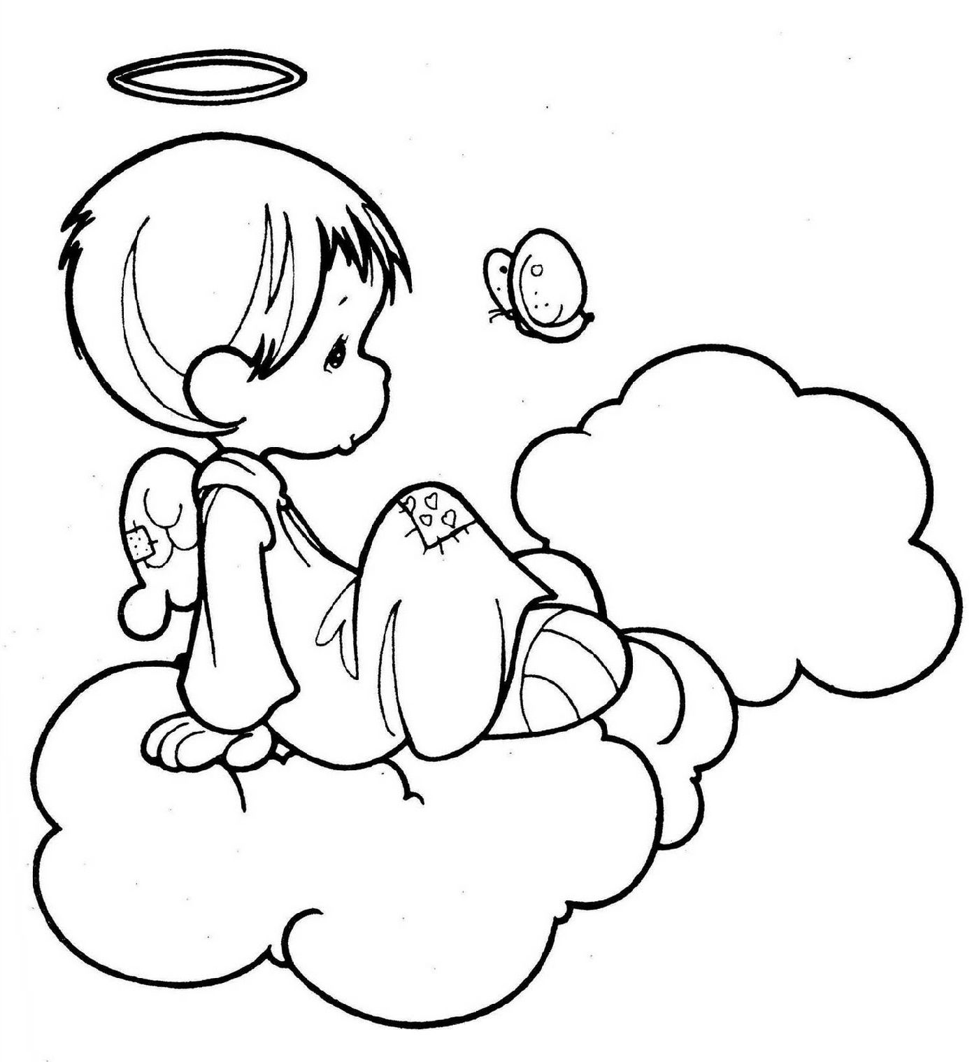 Angel Coloring Pages For Preschool Kids