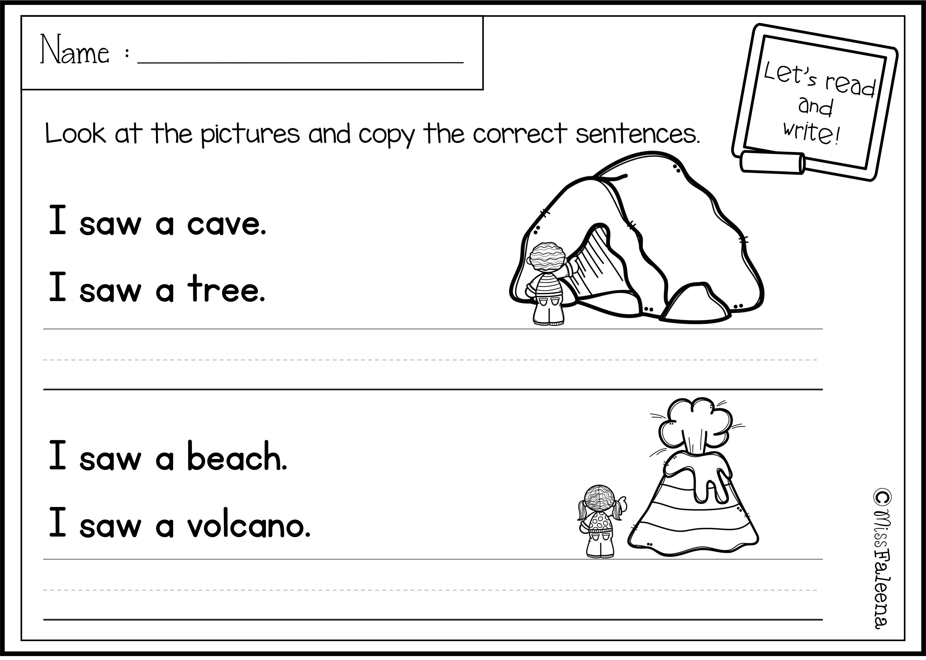 August Sentence Writing Has 20 Pages Of Copy The Correct Sentence These Pages Are Great For Pre