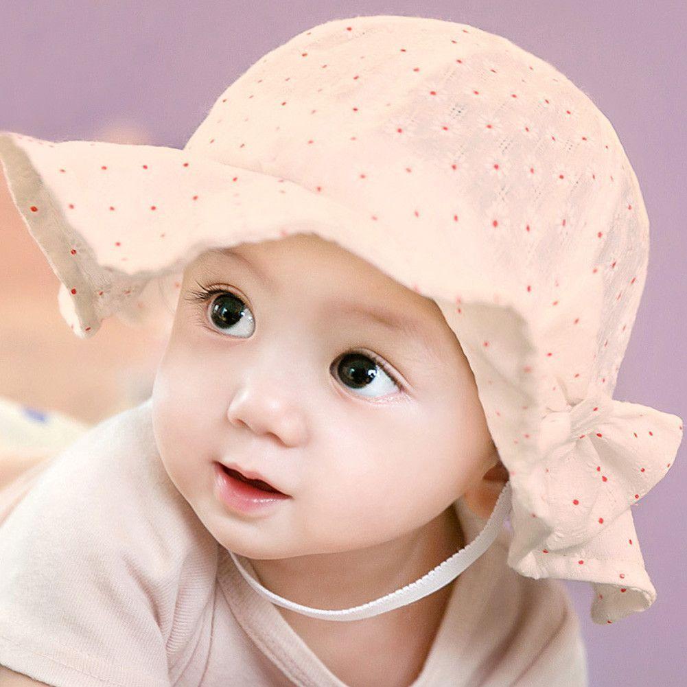 005ddef11325eb Baby Girl Pink Bucket Hat Toddler Infant Sun Cap Summer Outdoor Baby Girl  Bucket Hat Sweet Princess Girl Hat