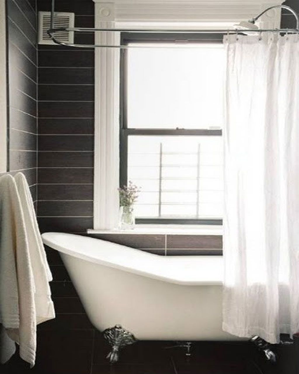 wooden bathroom your tub white prettify washbasin for ideas on enchanting curtain laminate table shower plus fabric with brown to round flooring of clawfoot grey oval