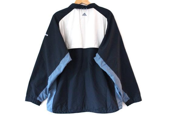 Adidas Windbreaker Vintage Adidas Jacket Blue Beige Adidas Windrunner Adidas Tennis Sportswear Zip Up Adidas Sweatshirt Table Tennis Vintage Adidas Fashion Jacket Style