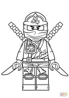 Lego Ninjago Green Ninja Super Coloring Ninjago Birthday Ideas