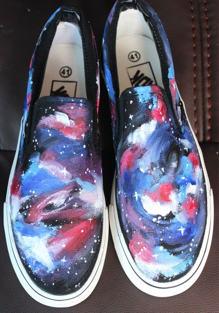 deb76c4286f Galaxy Vans Custom Vans Shoes Painted Vans
