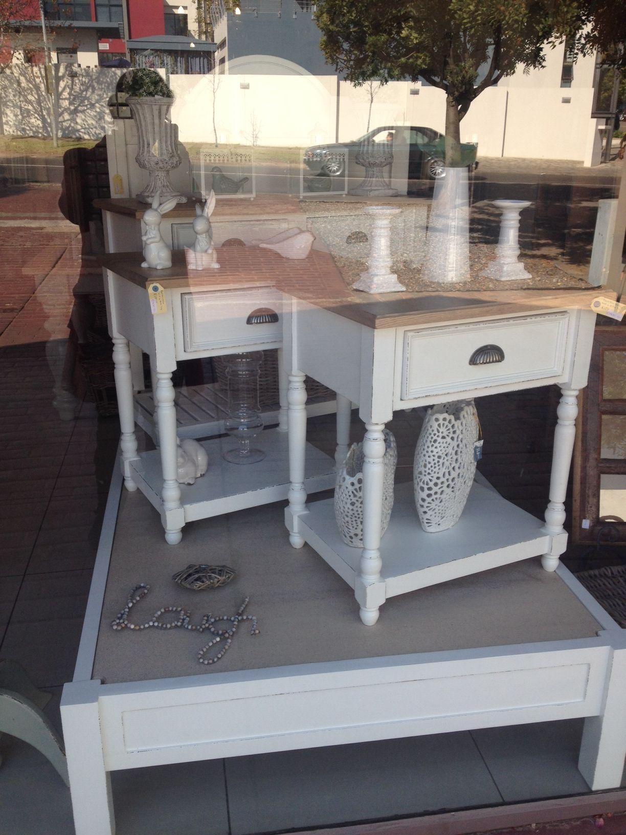 Lovely bedside pedestals with grey white oak tops | Albert Edwards ...
