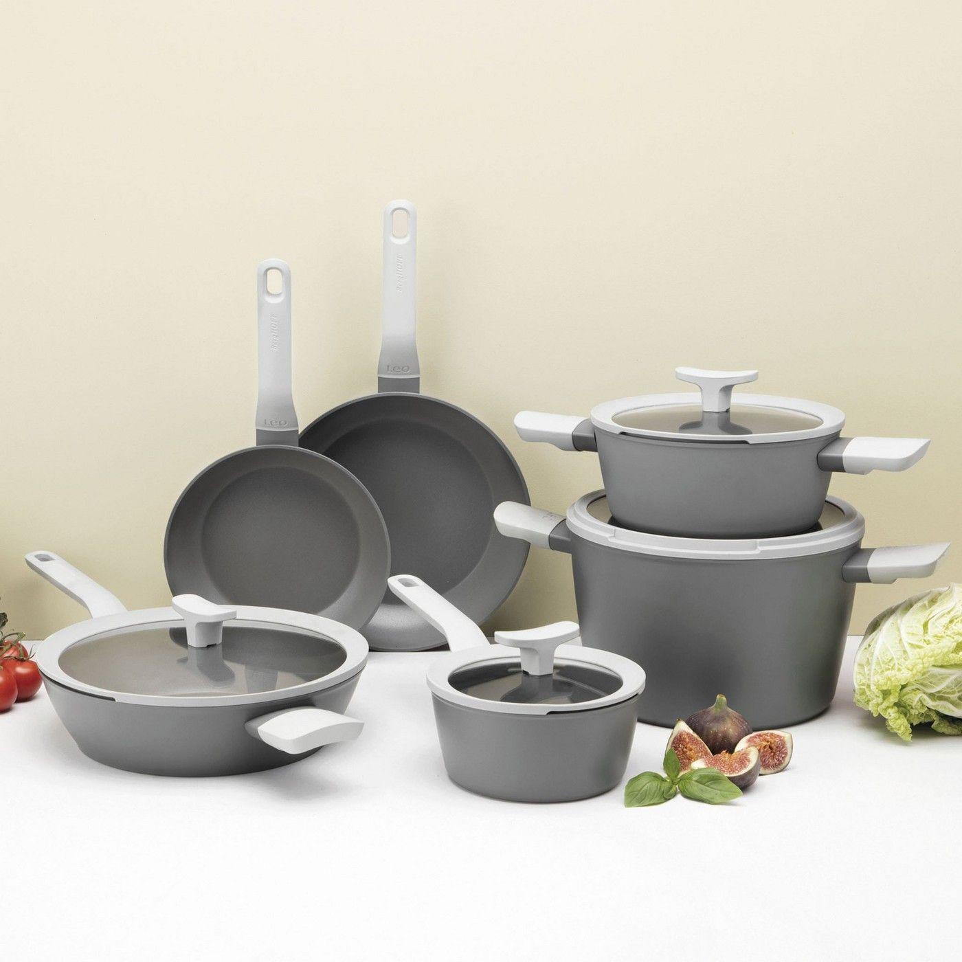 Berghoff Leo Deluxe 10pc Non Stick Cookware Set Gray Cookware Set Black Kitchen Decor Berghoff