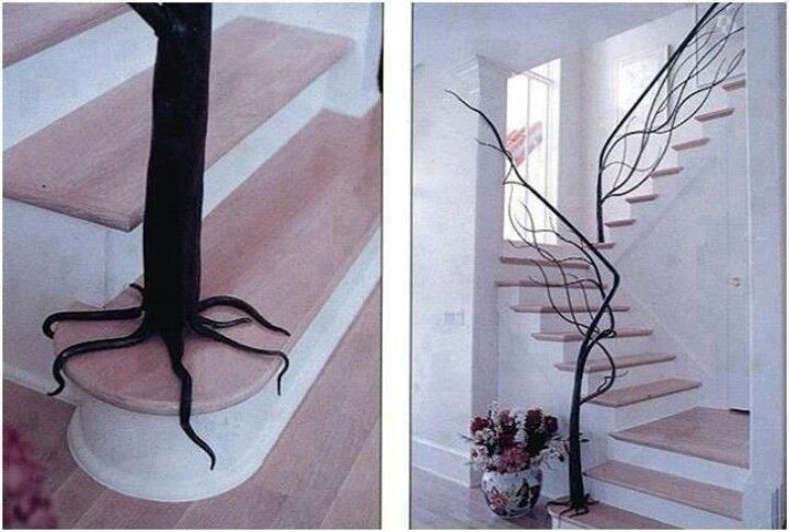 Hand rail that looks like tree branches