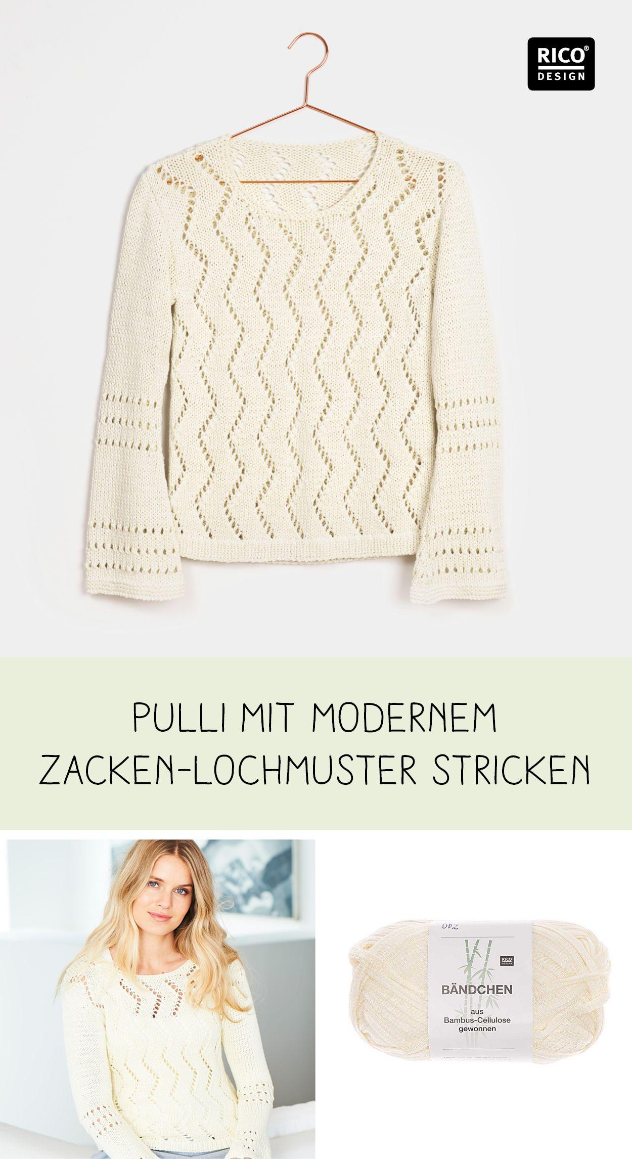 Photo of Strickmode: Stylishen Pullover mit Zacken-Lochmuster stricken