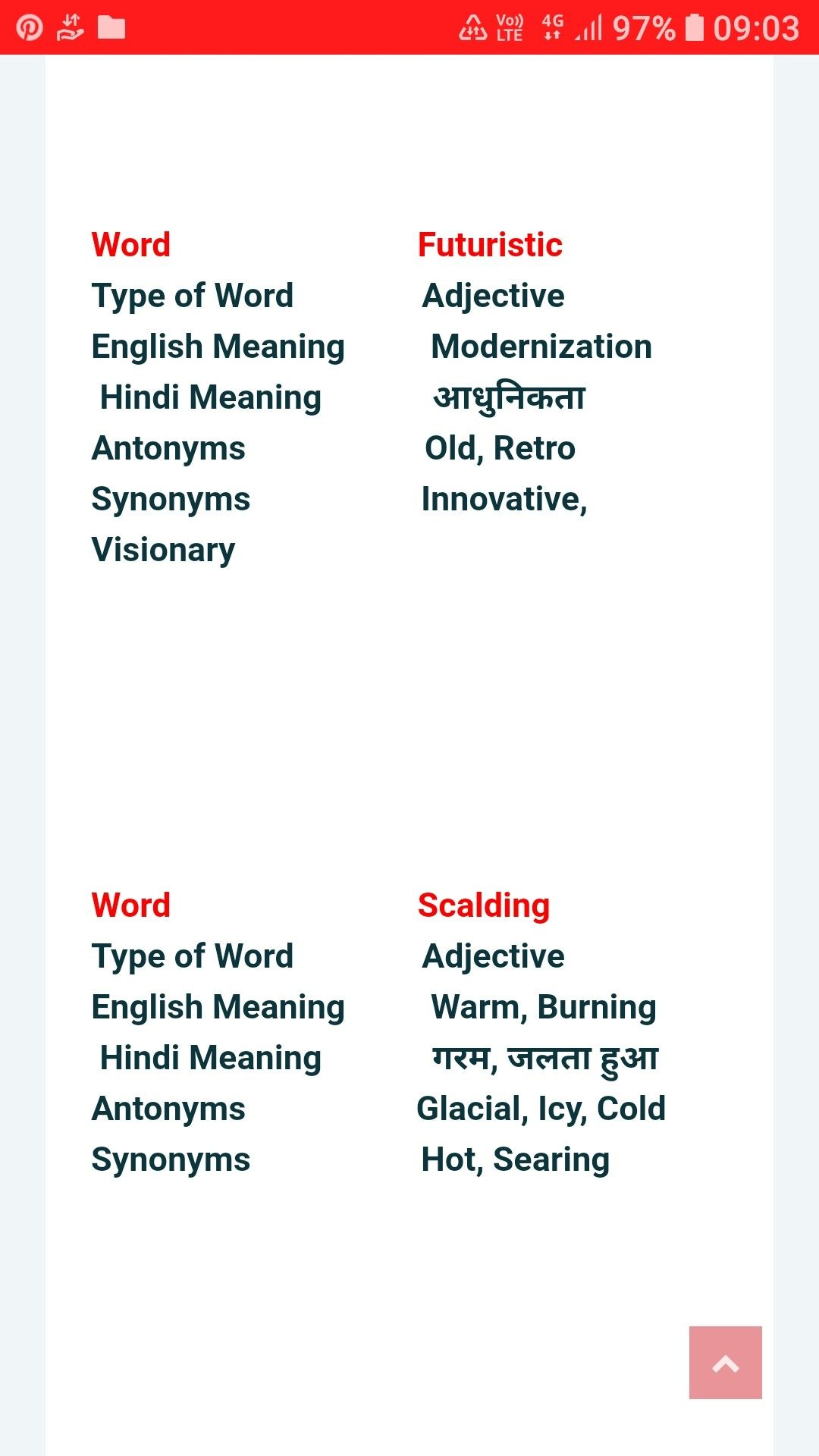 Important English Words Synonyms And Antonyms English Words Words