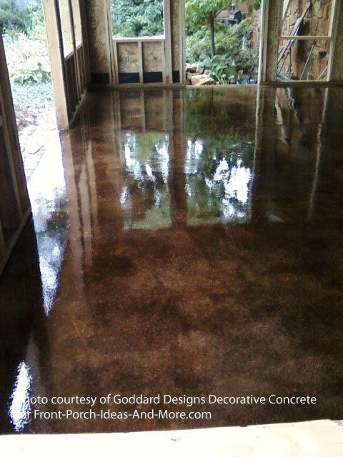 Staining Concrete Floor Basics Diy Projects Concrete