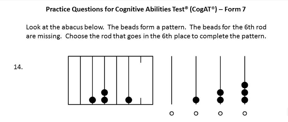 Free CogAT Practice questions. Pre-K to Kindergarten   Cognitive ...