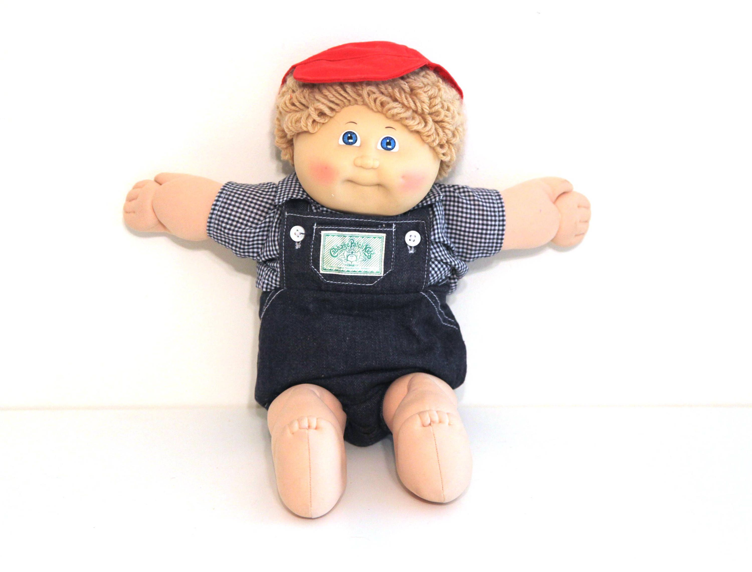 Vintage 80s CABBAGE PATCH KID doll boy blonde with hat and overalls by  216vintageModern on Ets… | Cabbage patch kids, Baby boy photography, Cabbage  patch kids dolls