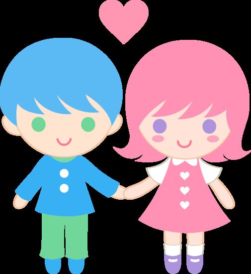 cute children clipart  Cute Valentines Day Kids  Free Clip Art
