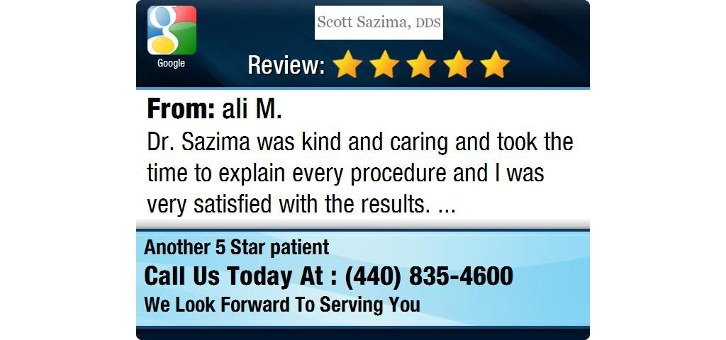 Dr. Sazima was kind and caring and took the time to