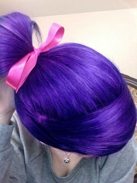 deep purple hair colored