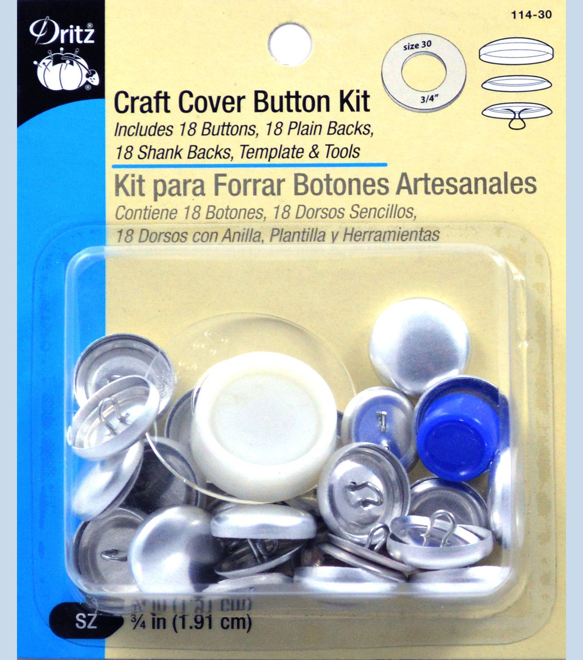 Craft Cover Button Kit Size Qtr In Crafts Make Your Own Buttons Covered Buttons