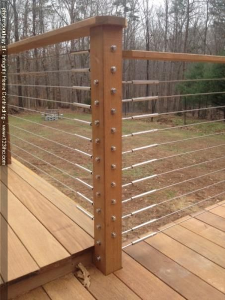 Cable railings make this deck a stunner!