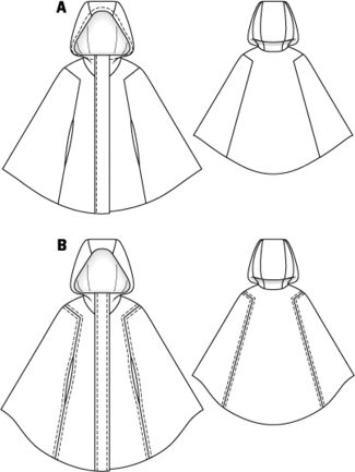 Hooded cape pattern | Inspiration | Pinterest | Nähen, Schnittmuster ...