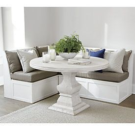 Rosalind 3 Piece Wicker Banquette - Corner and Two 48 Inch Benches