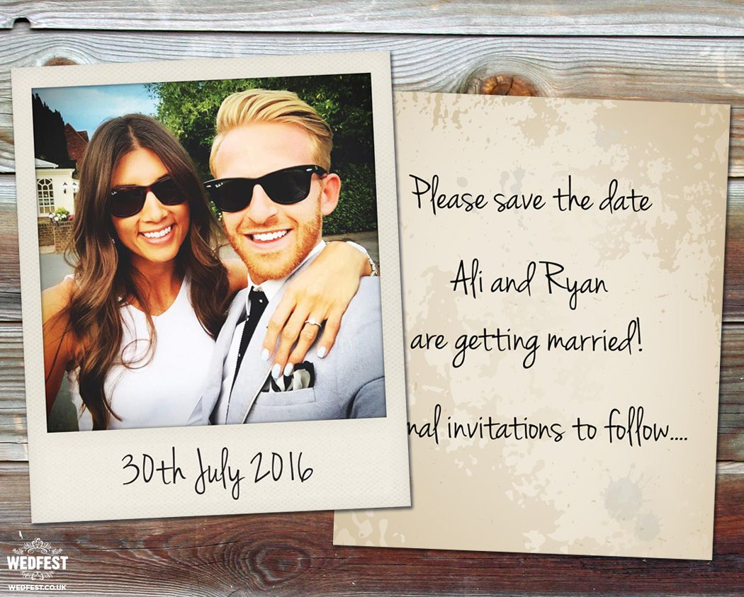 Polaroid wedding save the date cards wedfestco – When to Send out Wedding Save the Dates