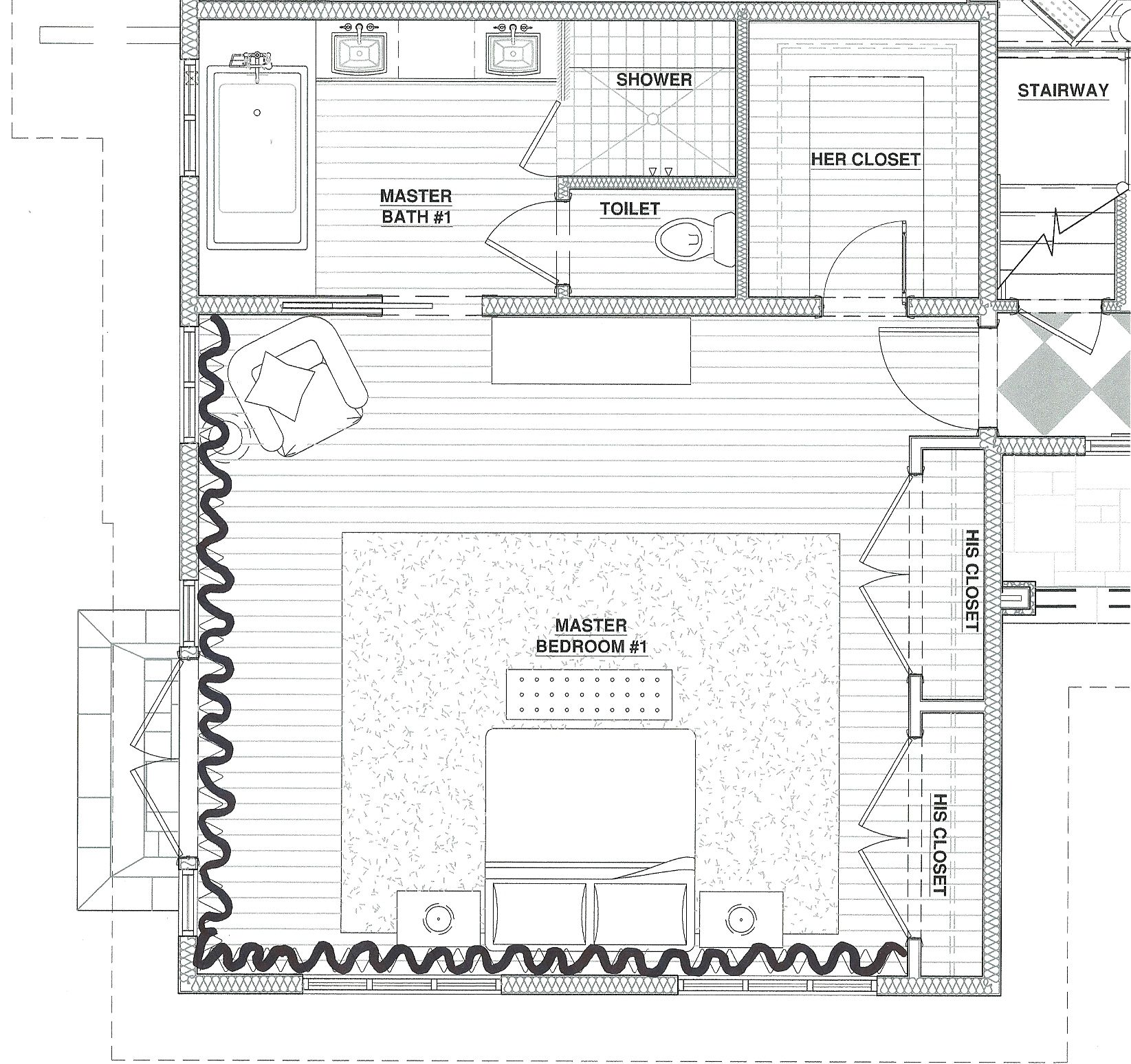 Master bedroom floor plans picture gallery of the master for Master suite addition floor plans