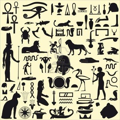 Silhouettes Egyptien De Symboles Et Signes Tatooooooo Egyptian