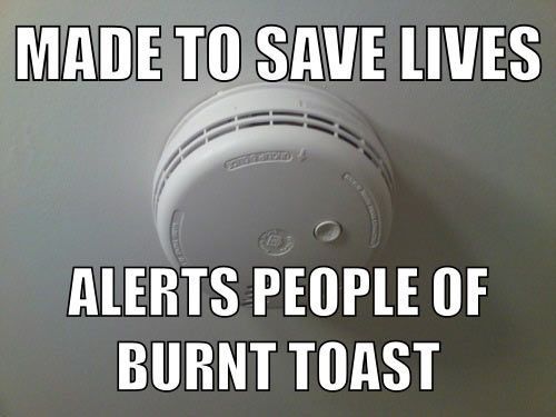 The True Use Of A Smoke Alarm Haha Funny Funny Pictures Funny