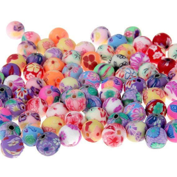 Bulk Beads Polymer Clay Beads 12mm Flower Beads 12mm Beads