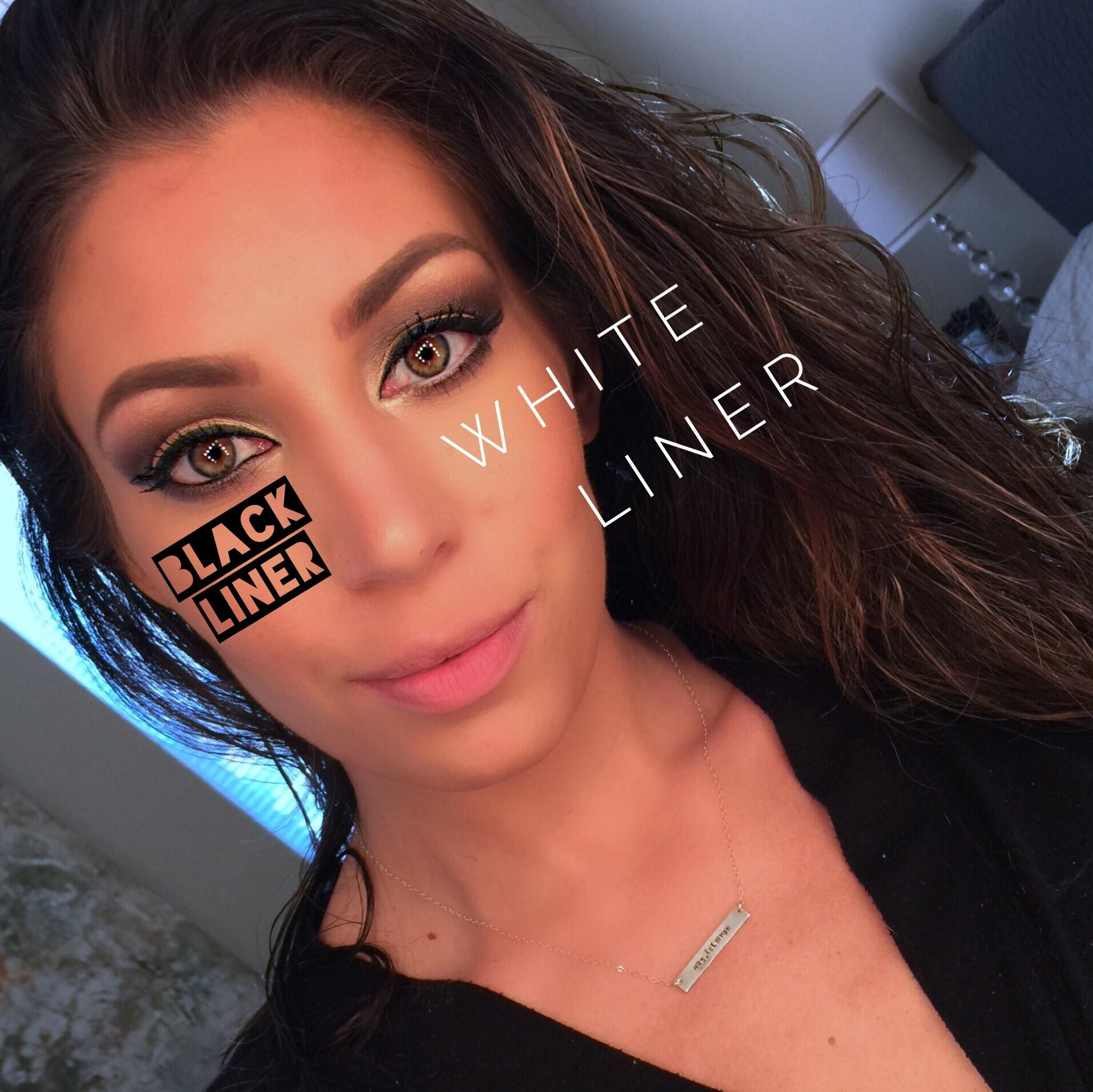 Tight Lining The Bottom Water Line With Black Vs White Both Are Great And Give You Two Totally Di White Eyeliner White Eyeliner Waterline Beauty Tips For Skin