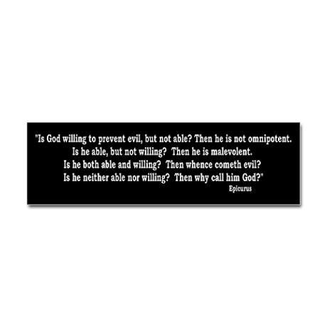 Epicurus quote bumper bumper sticker