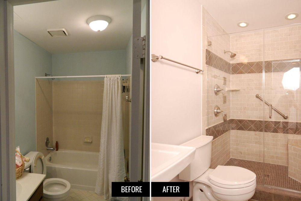 Project Before Afters Select Kitchen And Bath Small Bathroom Makeover Master Bathroom Remodel Shower Bathroom Remodel Shower