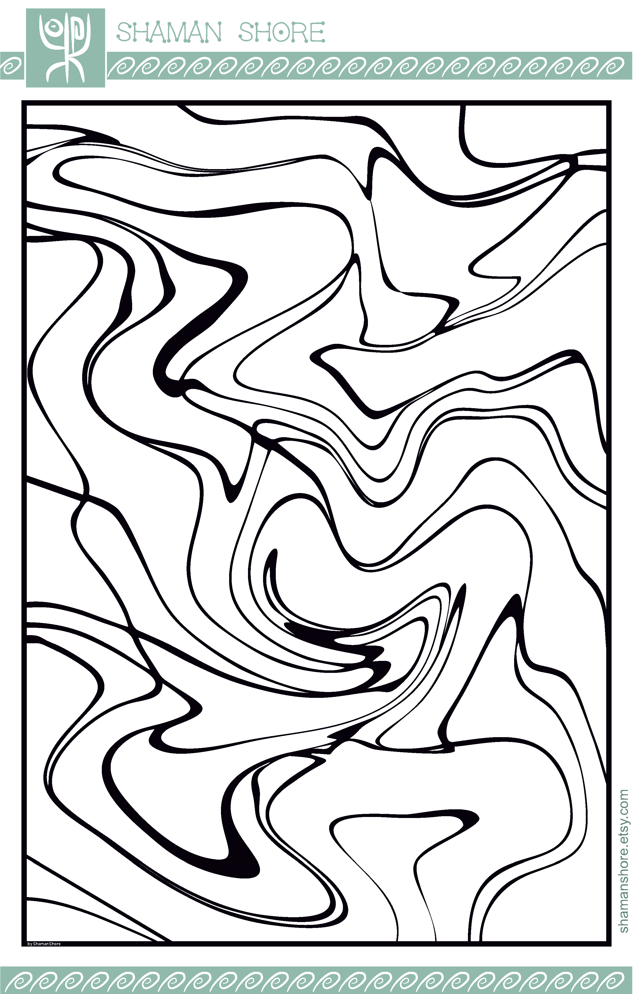 PDF Adult Coloring Book, Abstract Adult Digital Coloring ...