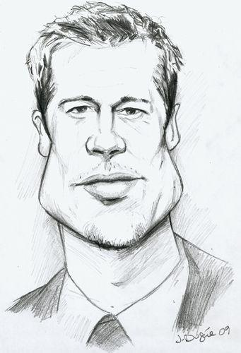 Http Www Juliendugue Com Images Wordpress Brad Pitt Caricature Jpg Dibujos Caricaturas Cine