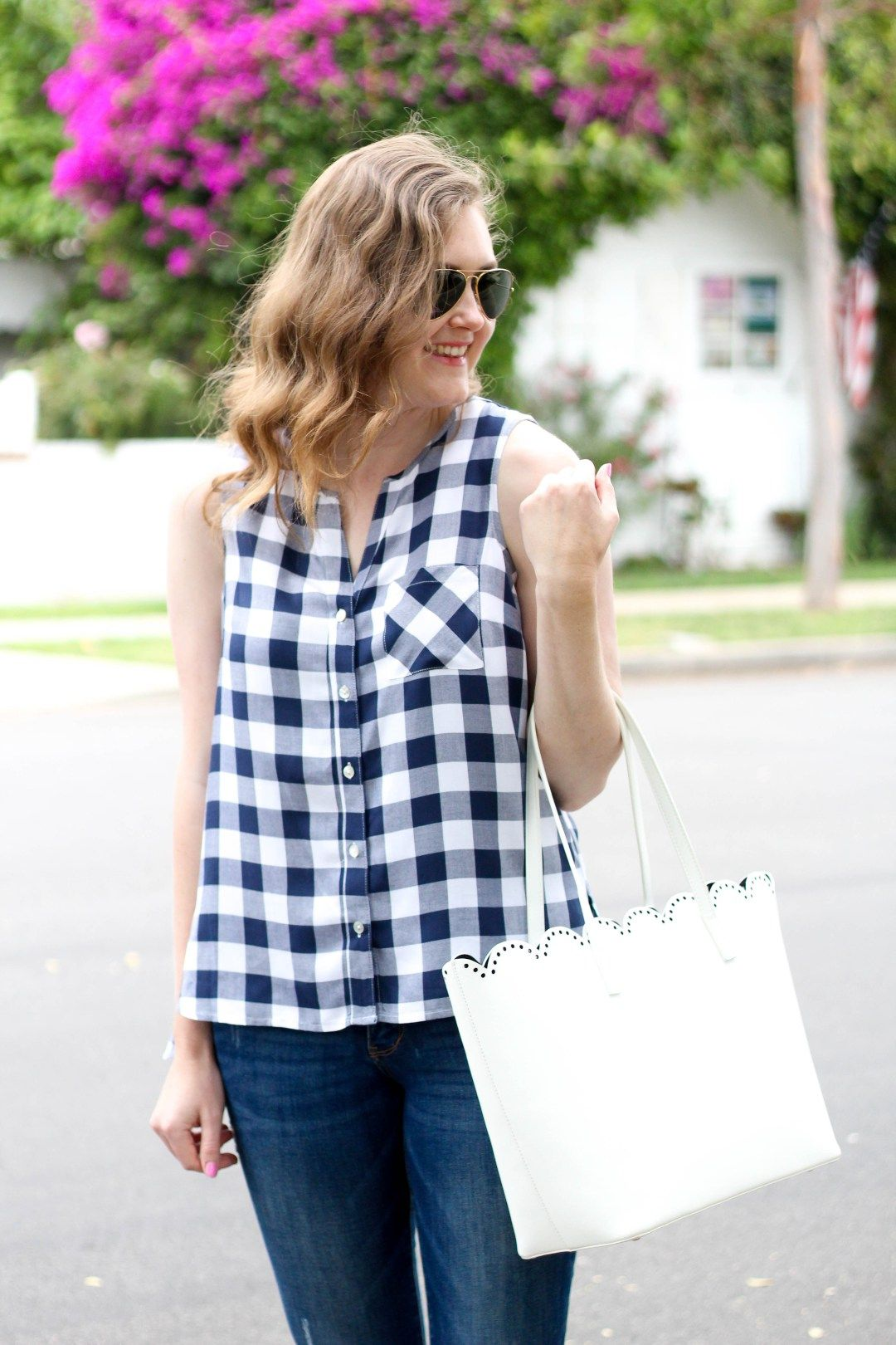 Seventeen Dresses | Navy and white gingham